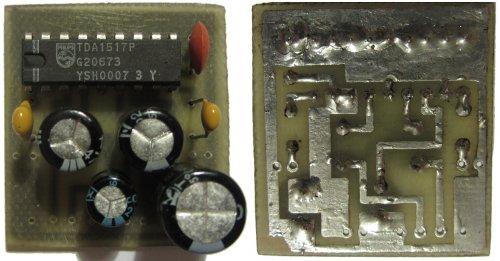 Микросхема TDA1517P двухканальный стерео усилитель мощности НЧ 2x 6Вт.  Напряжение питания микросхемы 14.4...