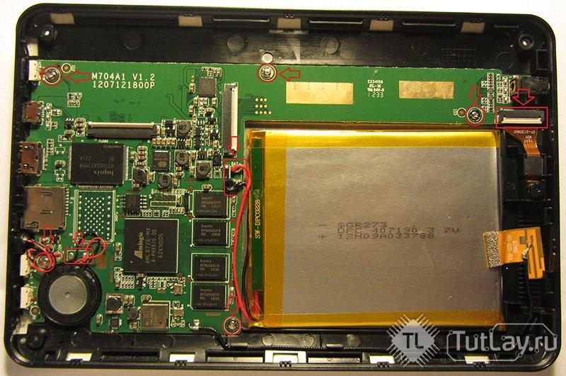 Скачать схему Texet TM-7043XD