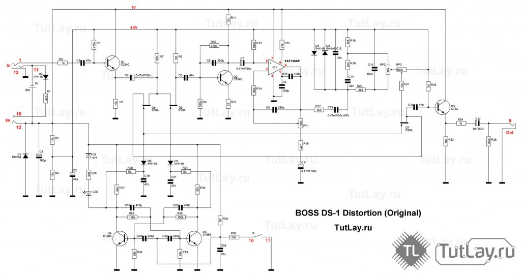 BOSS DS-1 Distortion Boss Ds Schematic on boss sp1, boss mt 2 schematic, boss oc-2 schematic, boss ge-7 schematic, boss dm-2 schematic, boss ph-1 schematic, boss sd1 schematic, boss ds 1 modification, boss od-1 mod instruction, boss lm-2 schematic, boss ce-2 schematic, boss overdrive schematic, boss ls 2 schematic, boss fs 6 footswitch schematic, boss ce-3 schematic, boss hm-2 schematic, boss blues driver schematic, boss metal zone, boss od-2 schematic, boss ds 1 keeley mod,