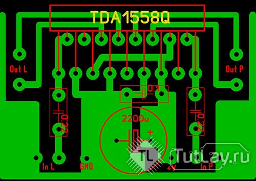 Усилитель на TDA1558Q 2x22Вт